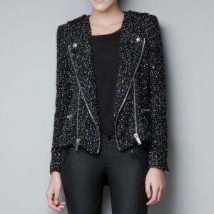 Zara Fantasy Boucle Sequin Blazer/Jacket